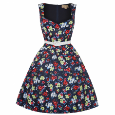LINDY BOP 'NELLIE' SMALL NAVY FLORAL