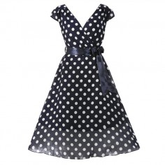 LINDY BOP 'MARY ELLEN' NAVY POLKA