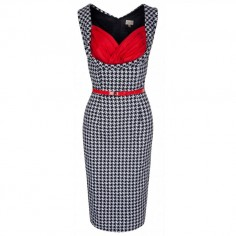 LINDY BOP 'VANESSA' BLACK DOGTOOTH