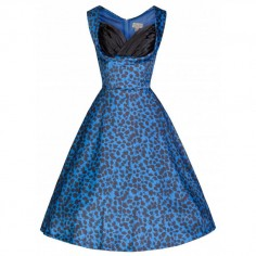 LINDY BOP 'OPHELIA' RETRO ROCKABILLY ELECTRIC BLUE