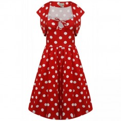 LINDY BOP 'LIBBY' RED POLKA